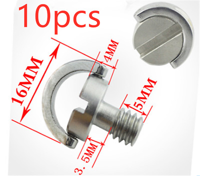 10pcs Stainless steel UNC1/4 D ring screw for Tripod Monopod Quick Release Plate
