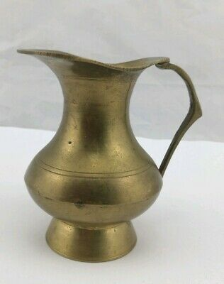 Little Brass Jug Floral Kleine Messingvase Krug
