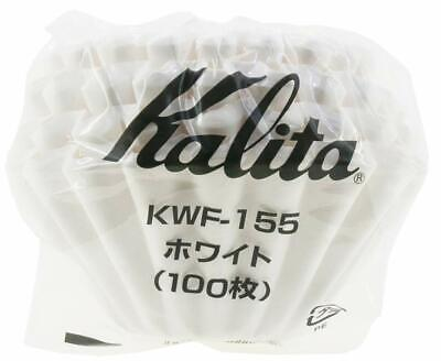 Carita Kalita coffee filter Wave Series 1 to 100 pieces white for 2 people KWF15