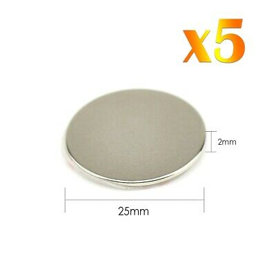 5x Neodymium Self Adhesive Strong Round Magnets Super Craft Disc NdFeb N42 Grade