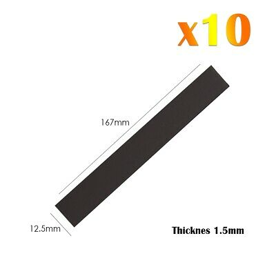 10 x Magnetic Rectangular Strip Rubber Flexible Strong Magnets For Fridge Craft