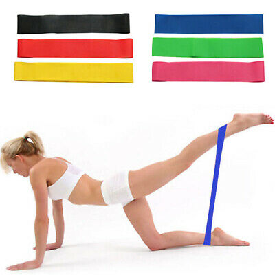 Workout Exercise Yoga Booty Resistance Fitness Elastic CrossFit Loop Bands HY3N