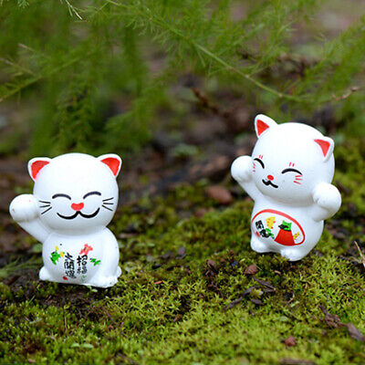 Emulation Mini Ornament 6PCS/Set Miniature Craft Fortune Cat Miniature Statues