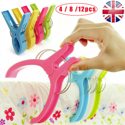 Beach Towel Clips Plastic Quilt Pegs For Laundry Sunbed Lounger Clothes Peg Clip
