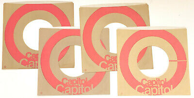 """Capitol Company Sleeve Lot for 7"""" 45 Orange/Red Beige Target"""