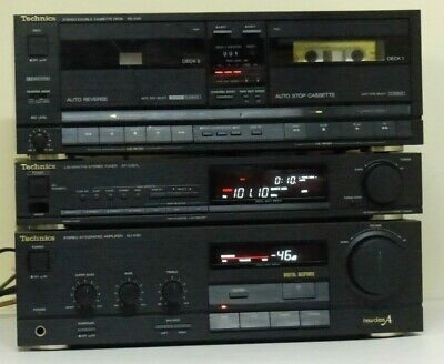 Vintage Technics stereo system,Amp, Tuner and Cassette