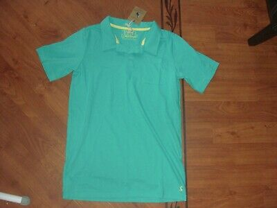 Bnwt Joules Boys Hove Turquoise Green Polo Shirt Top Age 11-12 Yrs.rrp £16.95