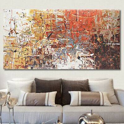 Large Textured Abstract Modern Art Canvas Oil Painting For Bedroom Framed Decor