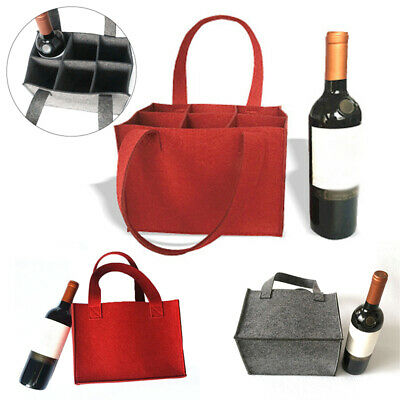 Wine Carrier Tote Bag Insulated 6 Bottle Cooler Carrying Case For Travel Picnic