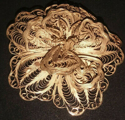 LRL 925 Thin Silver Wire Style Art Deco Vintage Retro Brooch Pin (Mexico?)