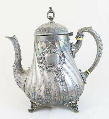 Antique Teapot WMF Germany Period Ottocento Style Baroque Eclectic Liberty X4