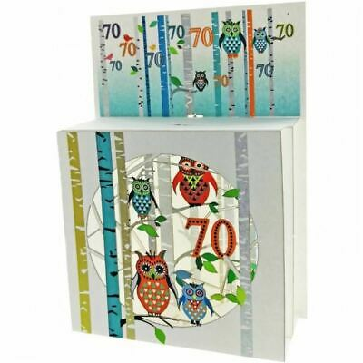 Forever Pop Up 3D Multi-layered Magic Box Card - Owls Age 70
