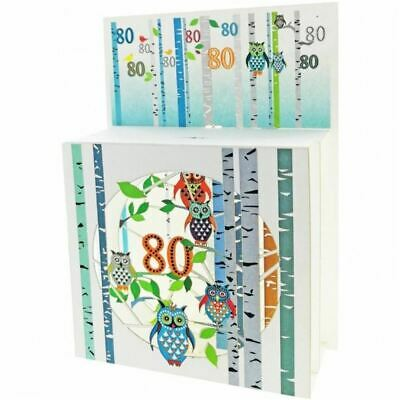 Forever Pop Up 3D Multi-layered Magic Box Card - Owls Age 80