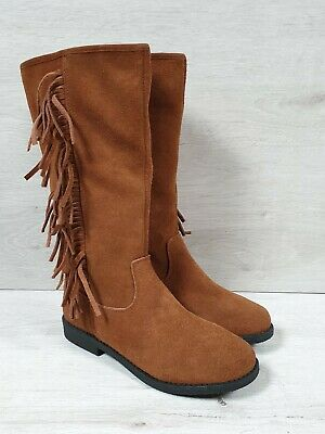 Next Girls Ladies Tan Suede Boots - Size 3 BNWT