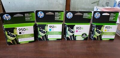 HP 950XL Black & 951XL Color Ink OfficeJet 8600 Genuine Retail Box (1 Full Sets)