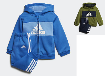 Adidas Boys Toddler Play Outdoor Warm Fleece Hooded Tracksuit Cotton 70%New New