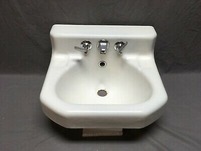"Vtg Deco Mid Century 18"" Wall Mount Shelf Back Kohler Bath Sink Old 283-19E"