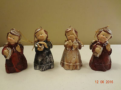 Assorted Lot of Ceramic Angel Bell Ornaments Vintage Christmas Angel Bells