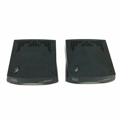 (Lot of 2) Cisco Systems ATA 186/188 Series Analog Telephone Adapters 5V 2A