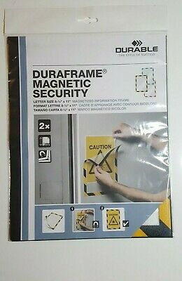 Duraframe Security Magnetic Sign Holder, 8 1/2 X 11, Packaged contains 2