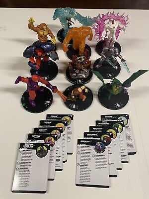 Marvel Heroclix X-Men Animated Series Colossal Lot G001-G010 - 10 Colossals