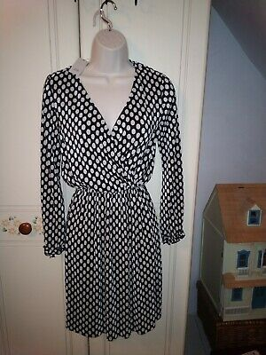 Black and White Spot  Dress, Size 8, River Island brand new with tags