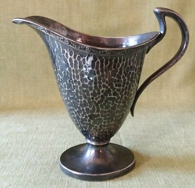 Preisner Silver Company Hand Hammered Silver Plated Creamer Pitcher P S Co 2725