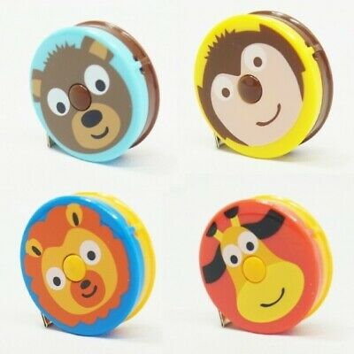 "Jungle Zoo Tape Measure Retractable 150cm/60"" Length Magnet Back"