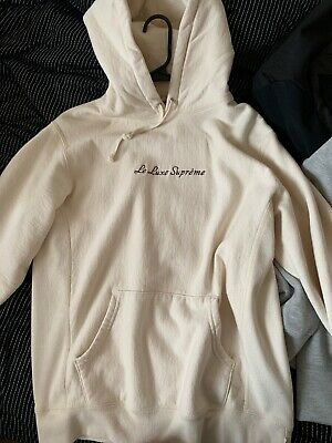 Supreme Le Luxe Hoodie Natural Cream Off White Medium