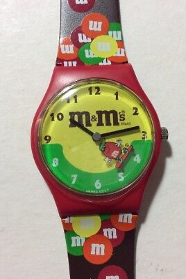 M & M Collector Watch In Box- New-1994 Engraved- Collectible