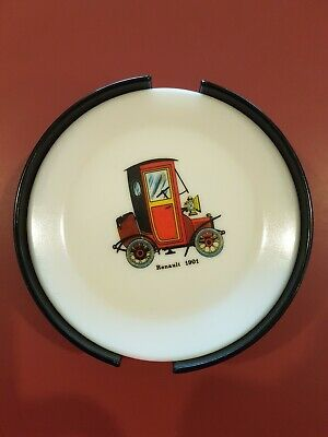 Retro Vintage Bessemer Melamine Melmac Car Coaster & Holder 5 Only