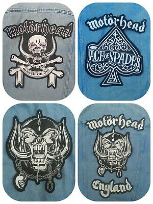 Motorhead england warpig snaggletooth ace spades embroidered back patch maiden