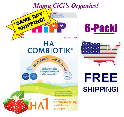 **FREE EXPEDITED SHIP!** 6 BOXES HiPP Combiotic HA 1 Hypoallergenic First Infant