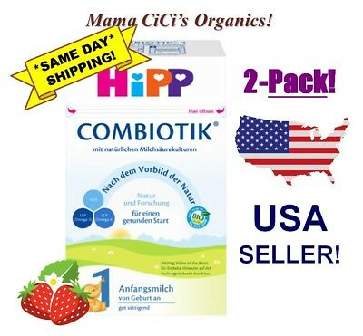 **FREE EXPEDITED SHIP** 2 BOXES HiPP Stage 1 Organic First Infant Milk Combiotic