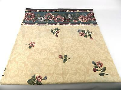 Vintage Dan River Percale Tan Purple Pink Blue Rose Floral King Pillowcases USA