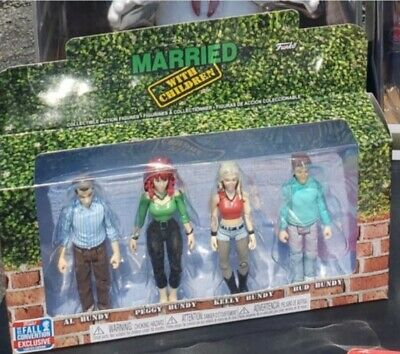 FUNKO Married With Children Al Peggy Kelly Bud Bundy Reaction Figures Excluisve