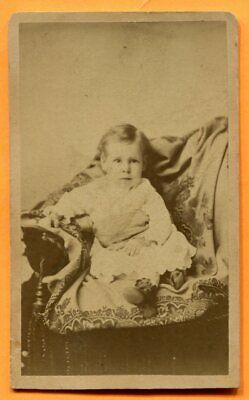 CDV Winona, MN, Portrait of a Toddler, by Hoard & Tenney, circa 1880s Backstamp