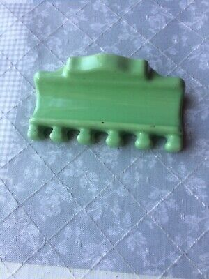 Vtg  Green Ceramic Porcelain Wall Mount Toothbrush Holder Old Bathroom Fixture