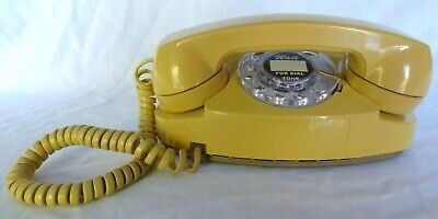 Western Electric Yellow Princess Rotary Phone Polished & Working, 2 small cracks
