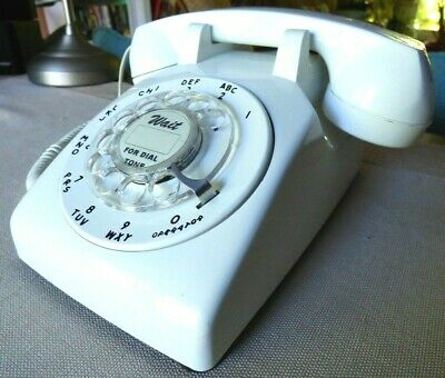 Vintage Western Electric 500 White Rotary  Phone - Polished and Working