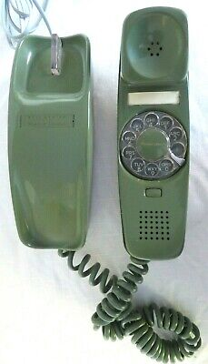 VINTAGE WESTERN ELECTRIC Green TRIMLINE ROTARY TELEPHONE Polished & Working