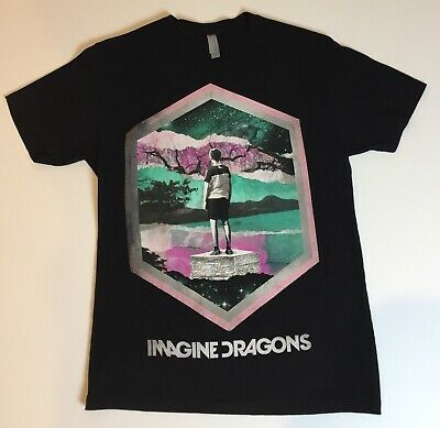 Imagine Dragons Night Visions T-Shirt Black Men's Size Small S