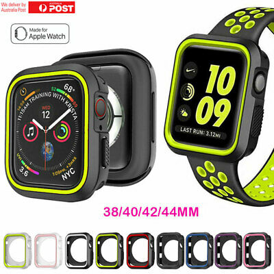 For Apple Watch Case Series 5 4 3 2 iWatch Protective Bumper Case 38 40 42 44mm