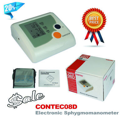 Segment LCD CONTEC08D Electronic Sphygmomanometer,easy to operate adult cuff