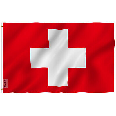 Anley Fly Breeze 3x5 Foot Switzerland Flag Swiss Flags Polyester 3 X 5 Ft
