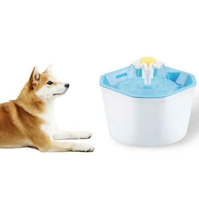 1.6L Automatic Electric Pet Water Fountain Cat Dog Drinker Dispenser Feeder Bowl