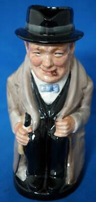 "Royal Doulton Sir Winston Churchill Toby Character Jug 8"" Unrecorded Size"