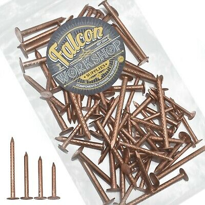 200g OF 'MIXED IN THE PACK' COPPER CLOUT ROOFING NAILS - 3 SIZES - TREE STUMP