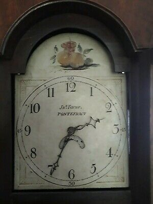 Antique oak Longcase /grandfather Clock Jn = Farrer