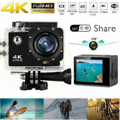 Ultra 4K Full HD 1080P Video Recorder Sports Cam WiFi DV Action Camcorder D0H8N